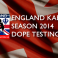 England 2014 Kabaddi Drug Test Results