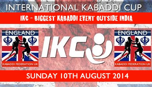 International Kabaddi Cup UK 10th Aug 2014